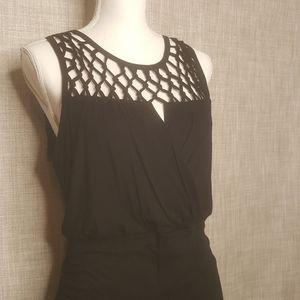 Eloquii Ruched Little Black Dress, EUC